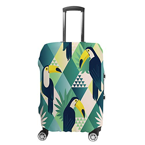 Luggage Cover Travel Anti-Scratch Suitcase Cover Baggage Protector Case Color Parrot Fit Washable Accessories Dustproof L