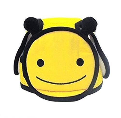 Hillento Baby Schutzhelm, Kleinkind Kinder Anti-Kollisions-Kopf Schutzkappe, verstellbare Geschirre Kopfschutz Keine Unebenheiten Kopfpolster Schutzhelm, Biene