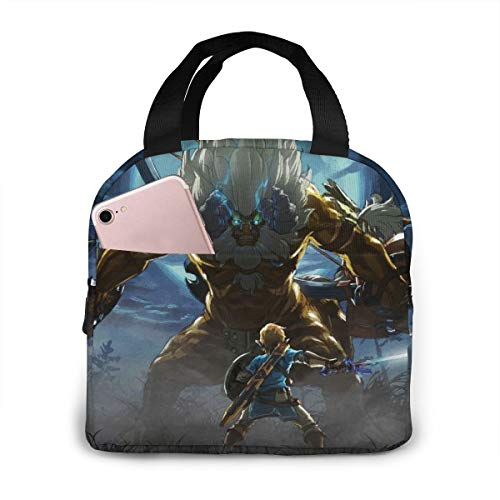 The Legend Of Zelda Lunch Tote Bag Lunchbox For Men Picnic Office Lunch Holder Insulated Water-resistant Reusable Fashion Lunch Box Wide-Open Lunch Organizer Box With Zipper