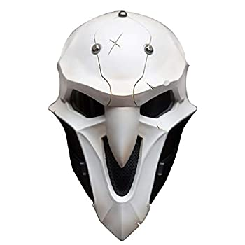 damdos Halloween Props Mens Cosplay Masks for OW Reaper mask with Lenses ABS Plastic Guy Fawkes Anonymous Mask Fancy Dress Xmas Birthday Gifts