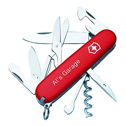 Personalized Red Climber Swiss Army Knife by Victorinox