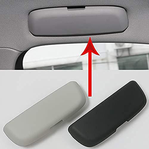 JHZQK Soporte para Gafas de Sol para Coche Caja de Almacenamiento para Gafas, para Audi A3 A4l A5 A6L S3 S5 Q5l Q3 Q5 Q7-Negro