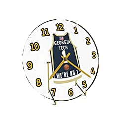 College Basketball USA - We're Number ONE College Hoops Jersey Themed Clocks - Support Your Team !!! (Georgia Tech Yellow Jackets)