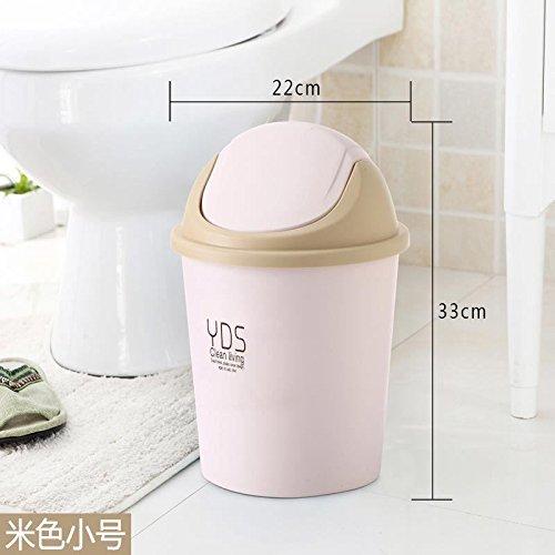 fuckluy Bacs à ordures extérieurs Accueil Toilettes Cuisine est équipé d'un Couvercle Chambre à Coucher Salle de séjour et Un Grand Blanc