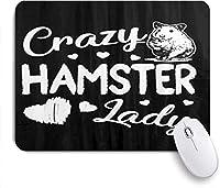 マウスパッド クレイジーハムスターレディーかわいいハート ゲーミング オフィス おしゃれ がい りめゴム ゲーミングなど ノートブックコンピュータマウスマット