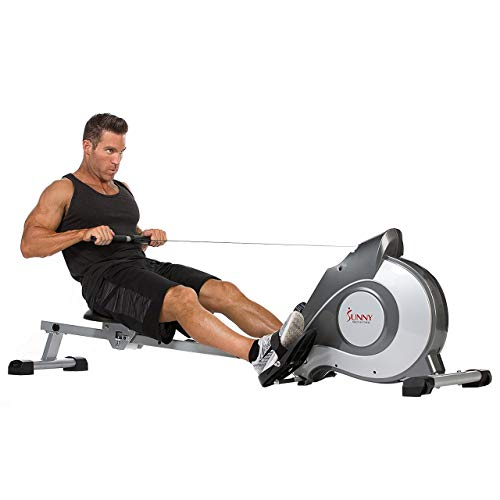 Sunny Health & Fitness Magnetic Rowing Machine with LCD Monitor by SF-RW5515 (Certified Refurbished)