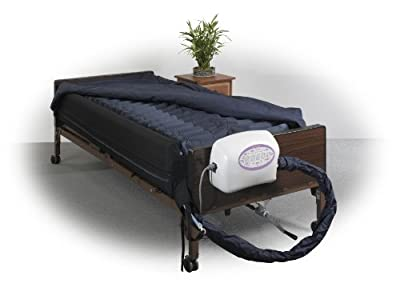 """Drive Medical Lateral Rotation Mattress with on Demand Low Air Loss, 10"""""""