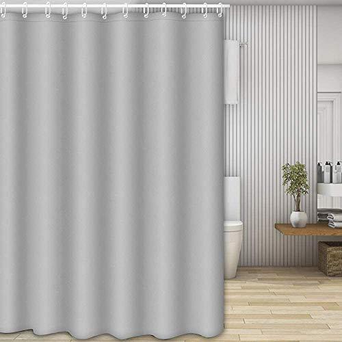 Molbory Duschvorhänge, Waschbar Badvorhänge aus Polyester, Wasserdicht Anti-Schimmel, Anti-Bakteriell mit 12 Duschvorhangringe Design, 180 x 180cm