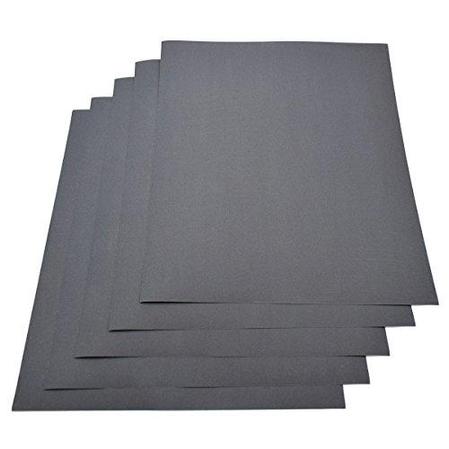Wasserdichtes Papier, Körnung 800, 230 x 280 mm, Nass/Trocken, Siliziumkarbid, 5 Blatt