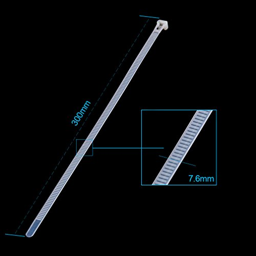 Releasable Zip Ties (100pcs) 12 Inch Nylon Cable Ties in White