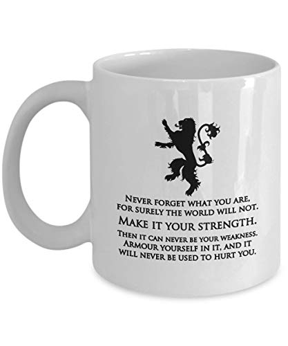 G-ame of Th-ro-nes Hazlo tu fuerza Tyrion Lannister Quote Gift Mug Fan GOT Present