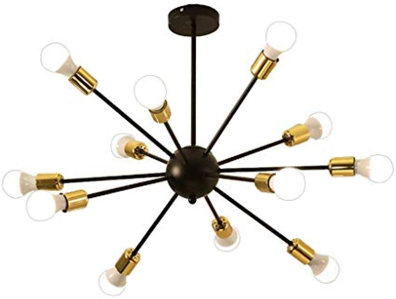 XAJGW Sputnik Kronleuchter Beleuchtung 12 Licht Kronleuchter Moderne Starburst Kronleuchter Mid Century Pendelleuchte Deckenleuchte für Küche Esszimmer Wohnzimmer Foyerer