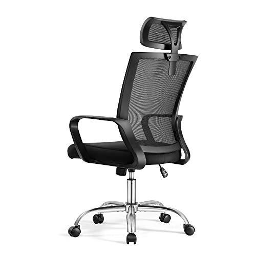 Magic Life Bürostuhl Ergonomischer Schreibtischstuhl,mit hoher Rückenlehne,Computer-Tischstuhl mit Verstellbarer Kopfstütze und atmungsaktivem Netzrücken Lendenwirbelstütze für zu Hause und im Büro