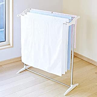 Belanto Stainless Steel Foldable Cloth Dryer Stand Double Rack Cloth Stands for Drying Clothes,Multi-Functional Mobile Fol...