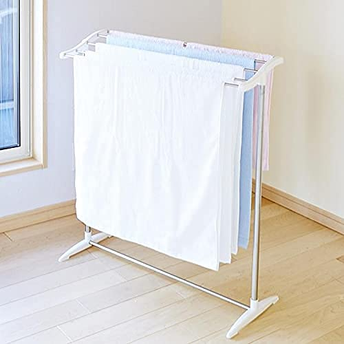 Belanto Stainless Steel Foldable Cloth Dryer Stand Double Rack Cloth Stands for Drying Clothes,Multi-Functional Mobile Foldable Balcony Towel Stand Indoor and Outdoor, Drying Holder