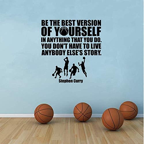 Vinile Wall Sticker Basket Stephen Curry Wall Sticker Rimovibile Nba Basketball Player Adesivi Murali Sportivi In Vinile 42X44Cm