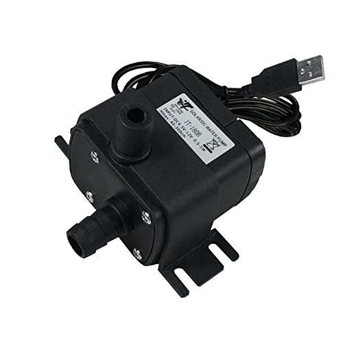JOVTOP-5V USB Brushless Submersible Water Pump Aquarium Fountain Pond Pump (Black)