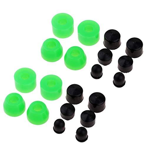 JSNRY - Juego de 20 casquillos de monopatín de repuesto para monopatín longboard 85A al aire libre, accesorios de skateboarding práctica personalidad (color: multicolor)