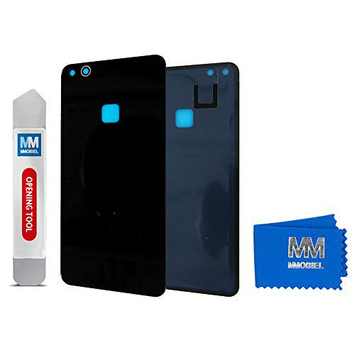 MMOBIEL Tapa de Bateria Cubierta Trasera de Vidrio Compatible con Huawei P10 Lite 2017 5.2 pulg (Negro Grafito)