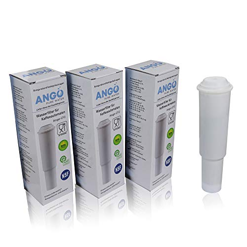 3x Wasserfilterpatronen ersetzen Jura Claris White 60209 / kompatibel mit Jura Impressa, Nespresso, Espresso, Carpresso - PureWater Ango-CF2 Kaffeevollautomat Kartusche