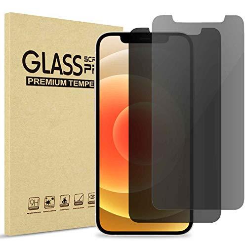 (2 Stück) ProCase Privacy Panzerglas für iPhone 12 und iPhone 12 Pro 6.1 Zoll, Anti-Spy Gehärtetes Glas Blickschutz Sichtschutz Folie Blickschutzfolie Displayschutzfolie