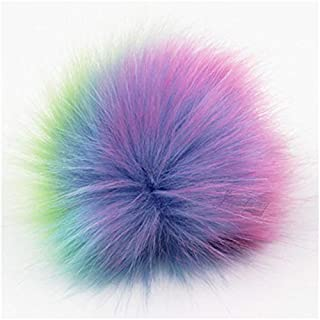 Key Chains - Furling 12pcs Pom Poms DIY Wholesale 10cm Soft Faux Fox Fur Pom Pom Ball for Knitting Hat Accessories Keychain Accessory - by Mct12-1 PCs
