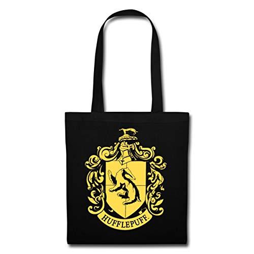 Harry Potter Hufflepuff Wappen Stoffbeutel, Schwarz