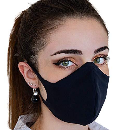 Mascherina in tessuto lavabile con filtro interno intercambiabile nera (L)