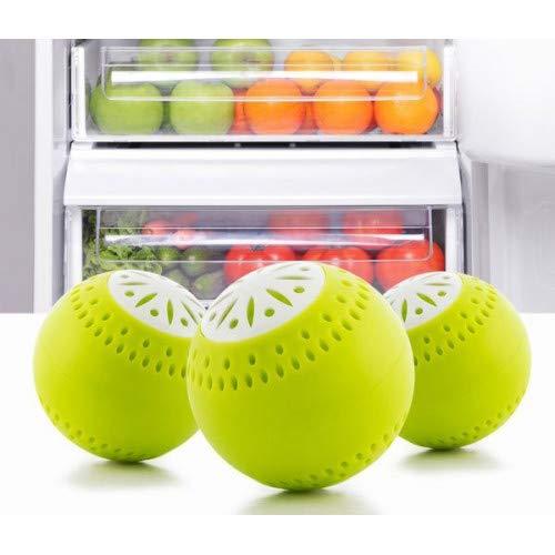 3 Pcs Eco-Friendly Fridge Deodoriser Balls Eliminate Odour Smell Removal Fresh Kitchen