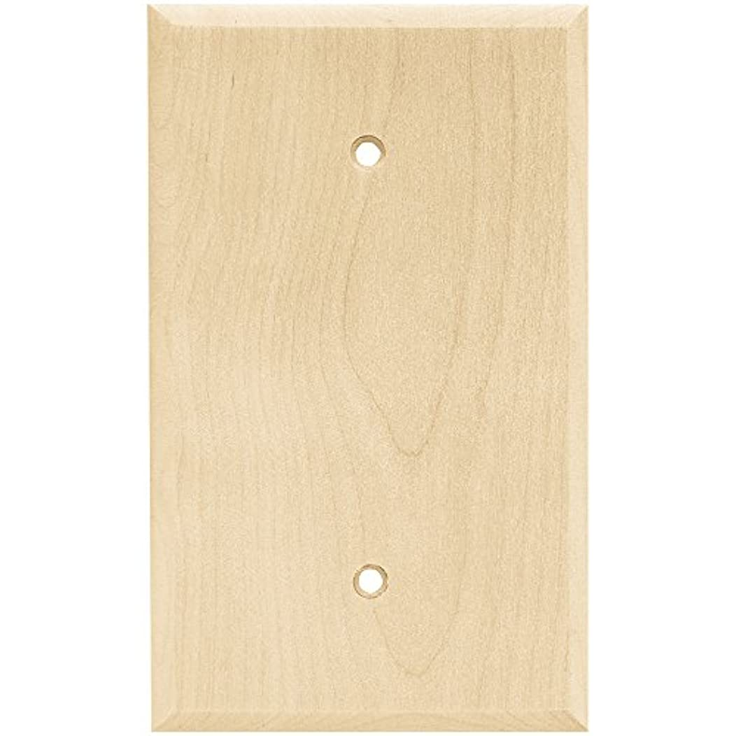 Franklin Brass W10402-UN-C Square Single Blank Wall Plate/Switch Plate/Cover, Unfinished Wood