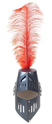 Fantashion K 35 - fietshelm met veer, zwart/rood