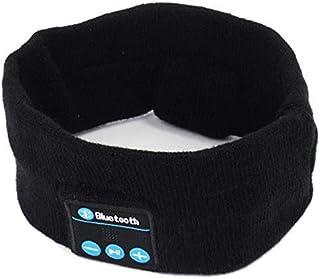 SODIAL Wireless Bluetooth Grayish White Stereo Headphone Headset Sports Sleep Headband Mic Big Power