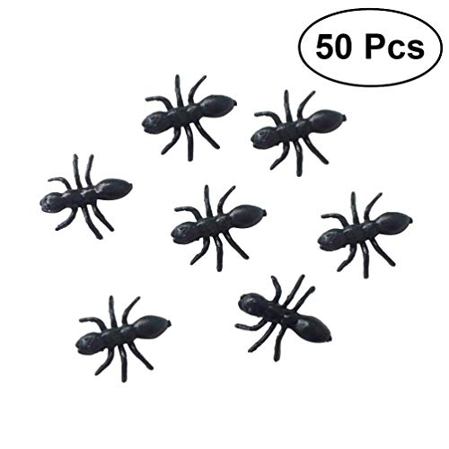 NUOBESTY 50pcs formica finta realistica formica giocattolo formica giocattolo insetto giocattolo per forniture per feste di halloween