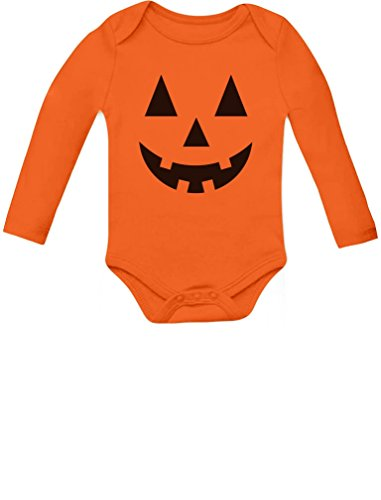Cute Little Pumpkin Outfit Halloween Infant Jack O' Lantern Baby Long Sleeve Bodysuit 6M Orange