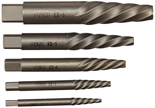 OEMTOOLS 24374 6 Piece Spiral Flute Screw Extractor Set