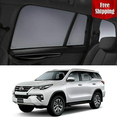Fantastic Prices! Magnetic Car Window Shades for Toyota Fortuner 2018 Rear Magnetic Car Rear Sun Bli...