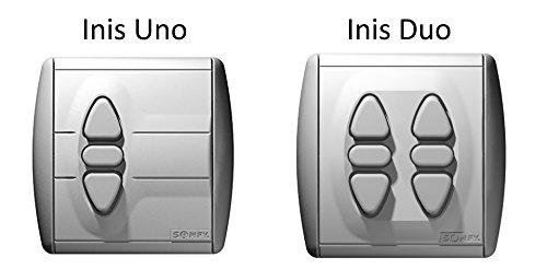 Somfy® Inis Uno of Inis Duo: draadgebonden schakelaar incl. afdekplaat Inteo voor aansturing van een rolluik of jaloezie.