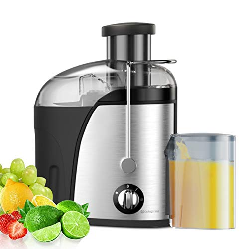 """Juice Extractor Fruit and Vegetable Juice Machine Wide Mouth Centrifugal Juicer,Wide 2.55""""Feed Chute, Easy Clean Juicer,3-Speed, Stainless Steel,400W, BPA-Free"""