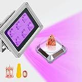 URCheers Impresora 3D UV 405 nm 80 W lámpara de resina endurecida con mesa...