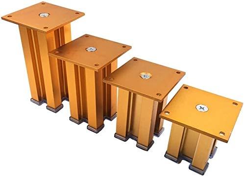 SHOP YJX Patas de metal para muebles, patas de soporte para sofá, mesas de café, patas de repuesto gruesas, 4 unidades (color: dorado, tamaño: 15 cm)