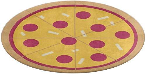 Pizza Door Mat Dirt-Trapper Washable Barrier Doormat for Indoor or Sheltered Outdoor,Entry Rug Non Slip Floor Mat