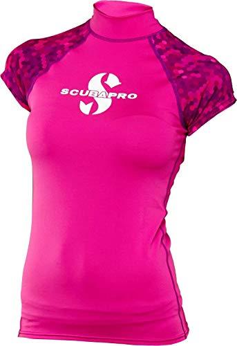 Camiseta sin mangas Rash Guard para mujer, slim fit, protección UV, colección 2017 de Scubapro Flamingo, large