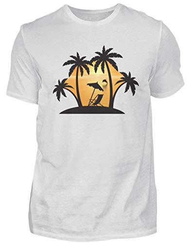 Palmenstrand mit Sonnenuntergang - Men Premium Shirt -XL-Ash (Heather)