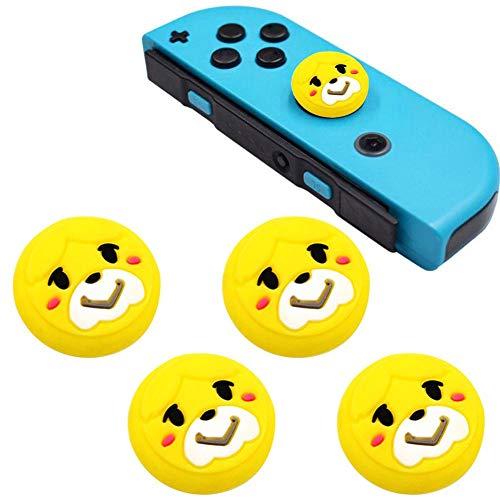 rosemaryrose Tapones de Silicona para Pulgar analógico Stick Caps Tapa de Joystick para Nintendo Switch NS Joy-con Controller -Sticks Skin Joy con Caps para Pokemon Pokeball Go
