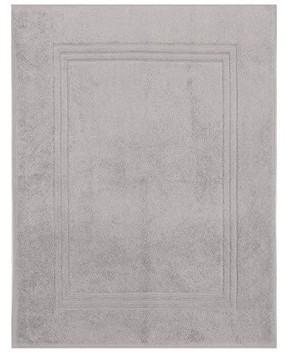 Betz Tapis de Bain XL Taille 60x97 cm 100% Coton qualité 950g/m² Gold Couleur Gris argenté