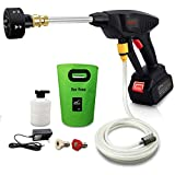 Pressure Washer, Electric Pressure Washer Gun, Portable Cordless High Power Cleaner with 6 in 1 Adjustable Nozzle,21V 450PSI Suitable for Washing Cars, Fences, Pool Siding, Patio Floors