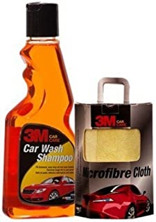 3M Combo of Microfiber Cloth and Car Shampoo (250 ml)
