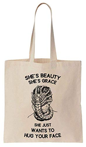 She's Beauty She's Grace She Just Wants To Hug Your Face Cotton Canvas Tote Bag
