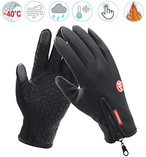 YMJJ Outdoor Handschuhe, Skihandschuhe Herren Damen, Thermo Handschuhe Anti Slip Warme Schneehandschuhe zum Skifahren Snowboarden Winterhandschuhe für Herren Damen,XL