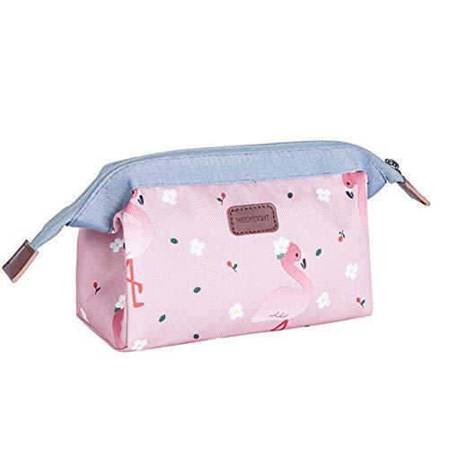 PoplarSun Style Coréen Fleur cosmétique Sac Femmes Sac Beauté Maquillage imperméable Voyage Sac Neceser Wash Case Organisateur (Color : Pink)